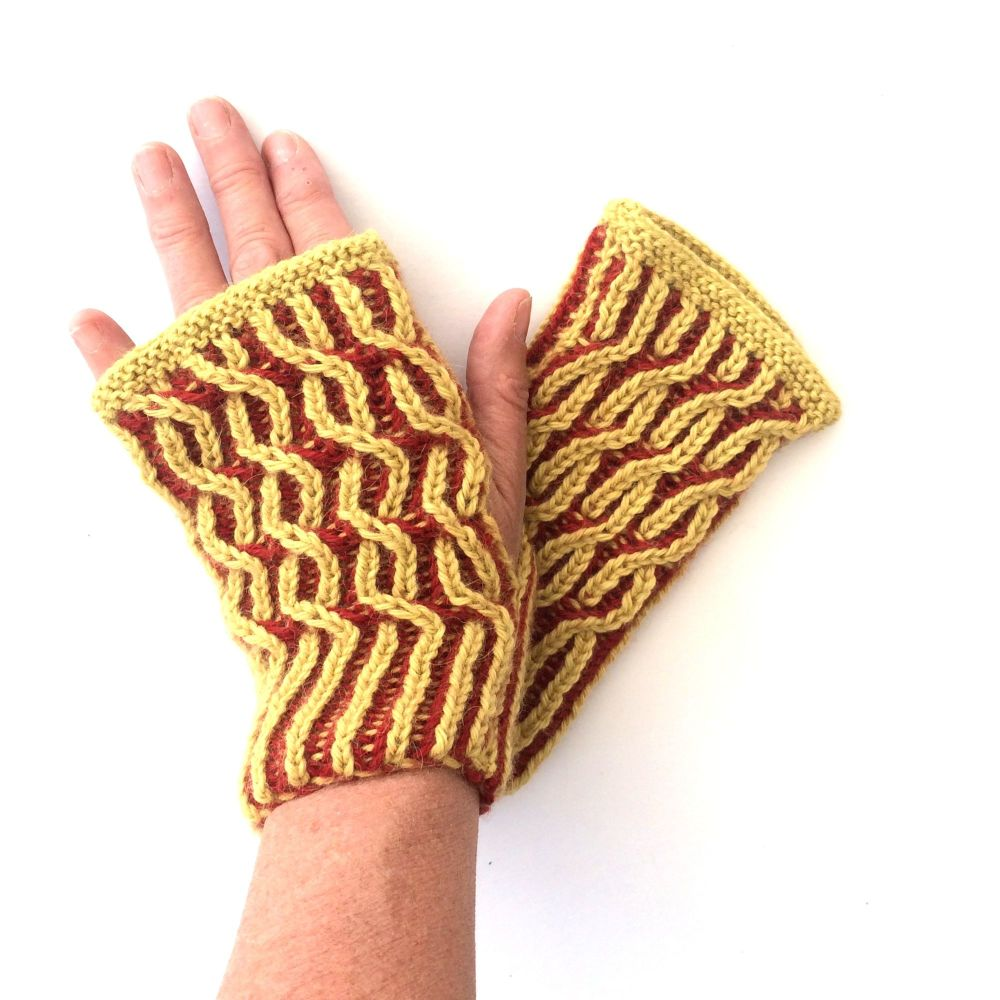 Swivel Brioche Gloves Pattern