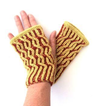 Swivel Brioche Gloves Pattern