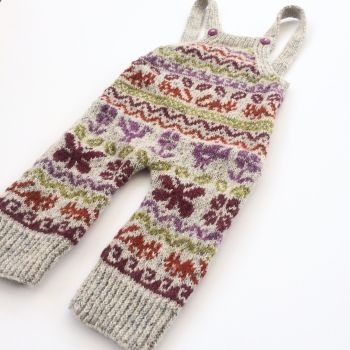Playful Dungarees - Baby knitting pattern