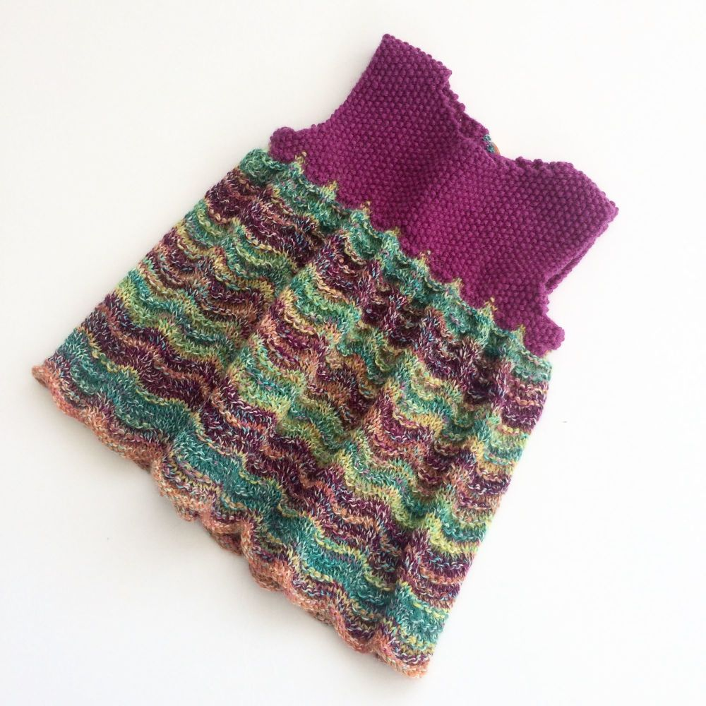 Sweet Pinafore - Baby knitting pattern