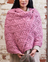 Cyclamen Chunky Lace Wrap Knitting Pattern