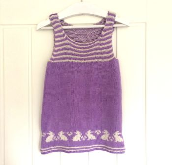Flopsy Slip Dress - Baby knitting pattern