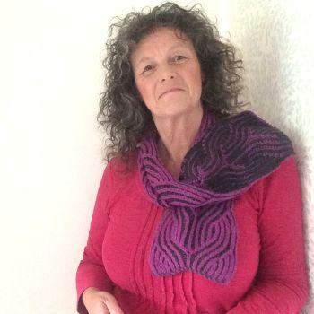 Brioche knitted scarf