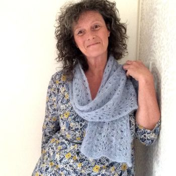 Light Blue lace scarf