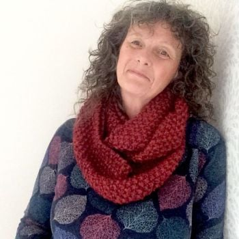 Chunky handknit Red Snood  SALE
