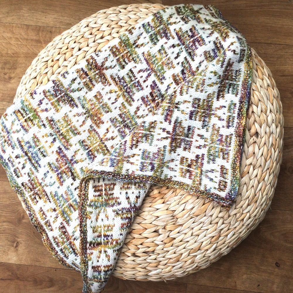Butterfly Baby blanket knitting pattern