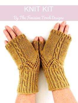 Popple Gloves knitting kit