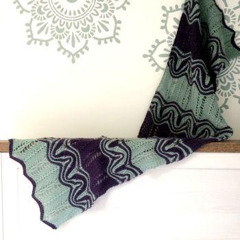 Splash Waves Wrap Knitting Kit