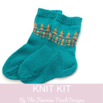 Christmas Pine Tree Socks Knitting Kit