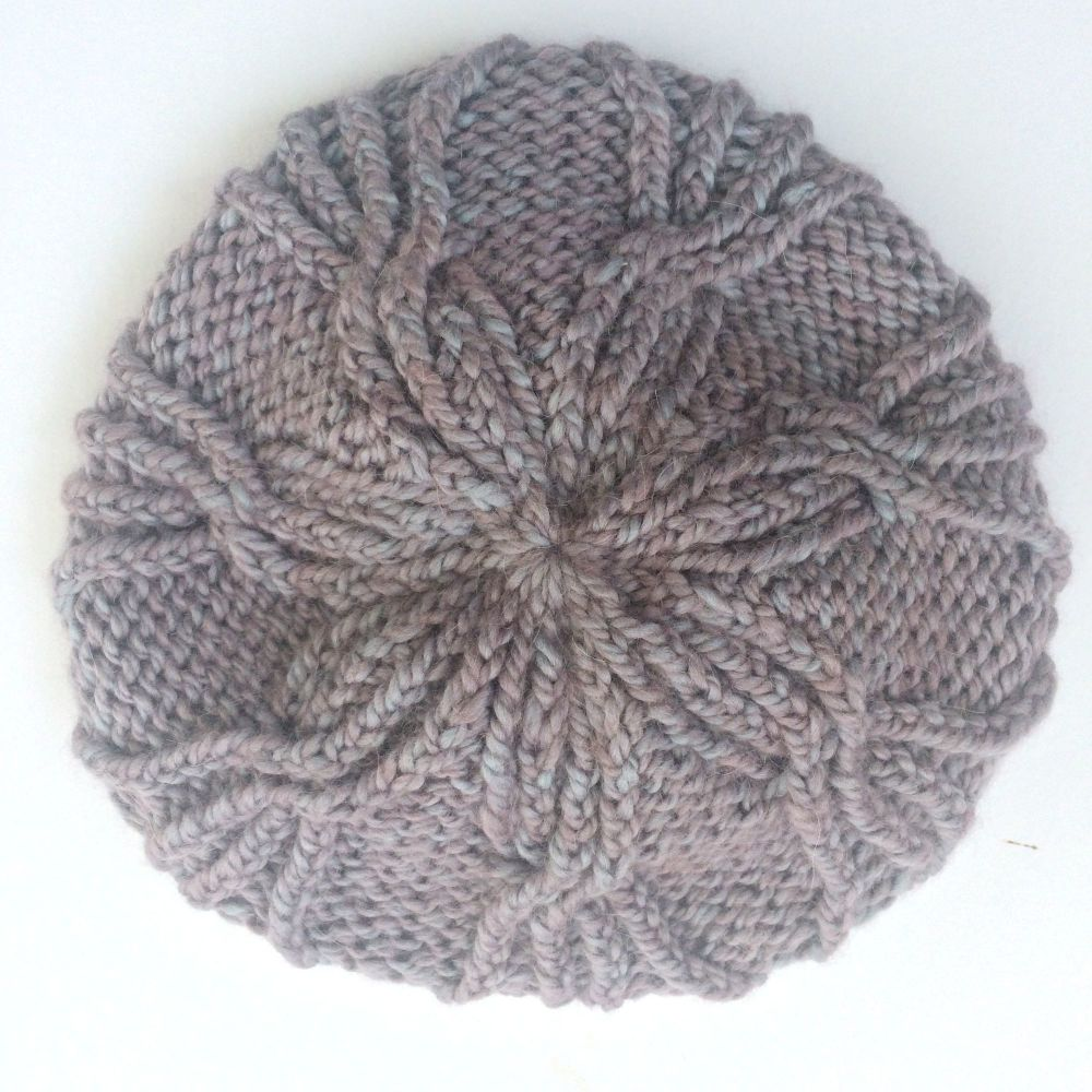 Flower Cable Beanie Hat knitting kit