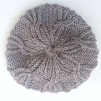 Flower Cable Beanie Hat knitting Pattern