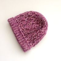 Pink Tweedy Chunky Beanie Hat