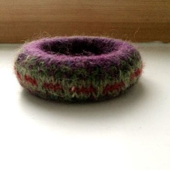 Purple Wool Bracelet