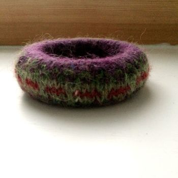 Purple Wool Bracelet    SALE