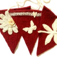 Recycled Red Wool Bunting    SALE