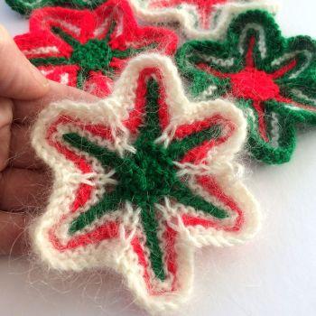 Star Flowers Knitting Pattern