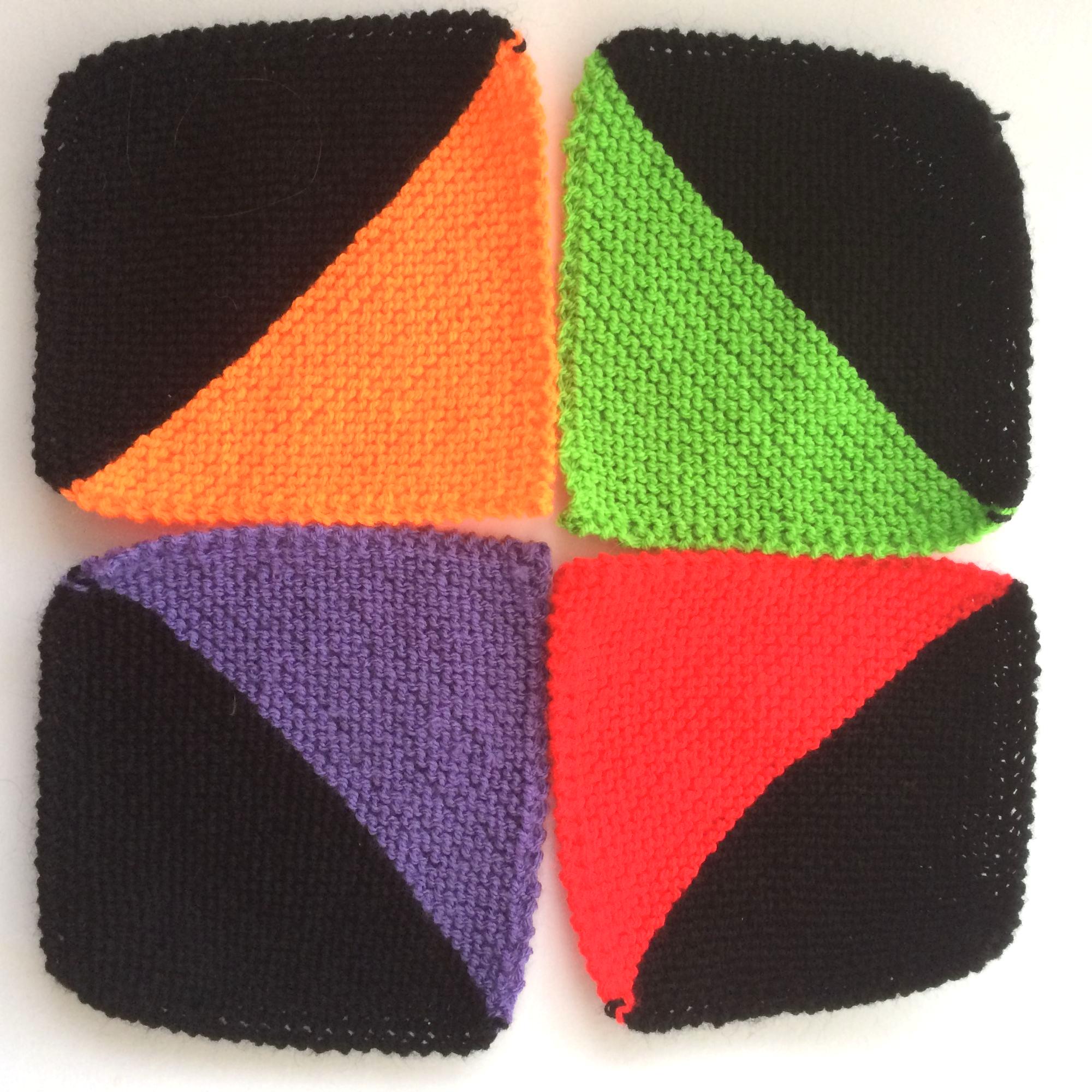 2 coloured squares