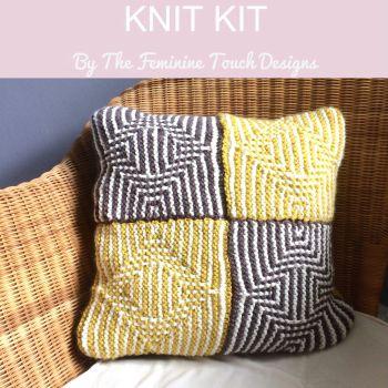Illusion cushion knitting kit