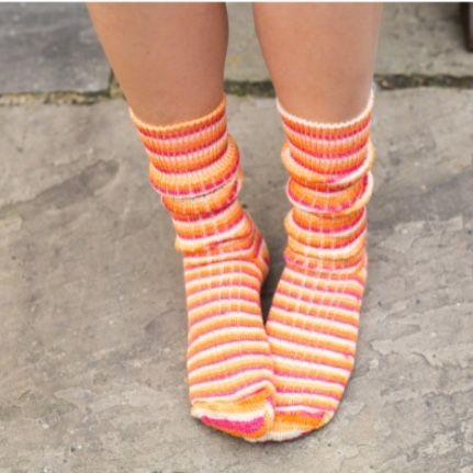 Tequila Sunrise - West Yorkshire Spinners Luxury Socks