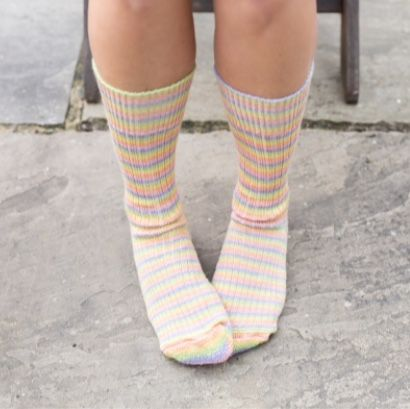 Sherbet Fiz - West Yorkshire Spinners Luxury Socks