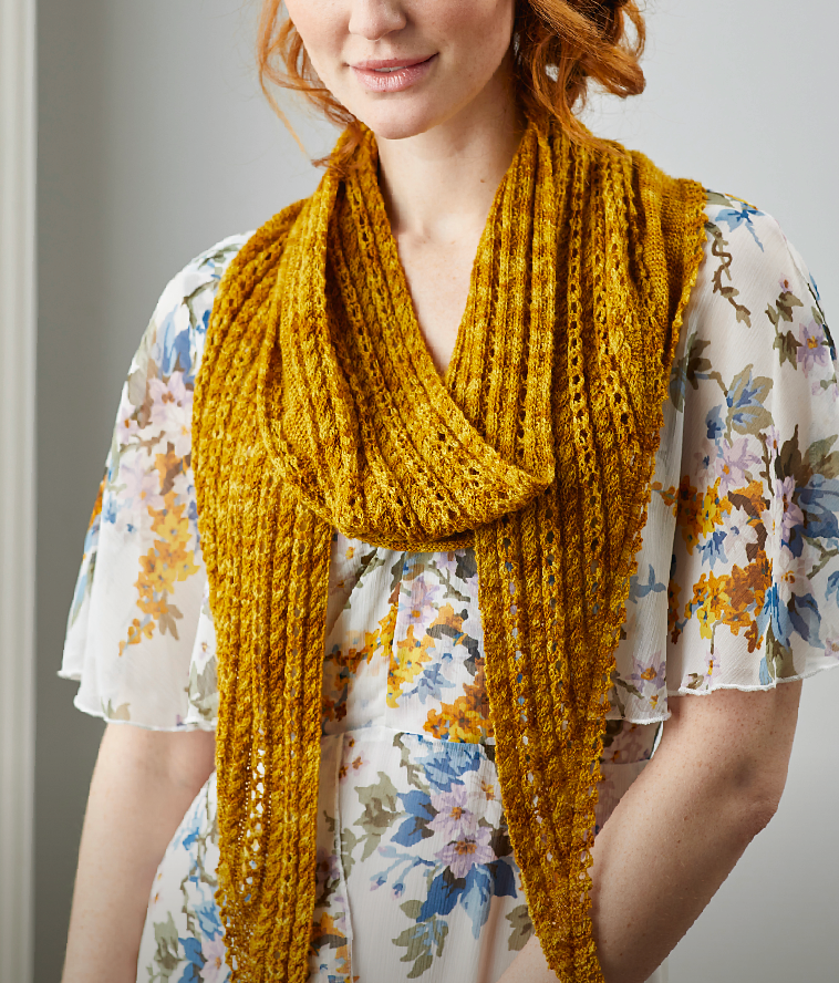 Cable and Lace Shawlette Knitting Pattern