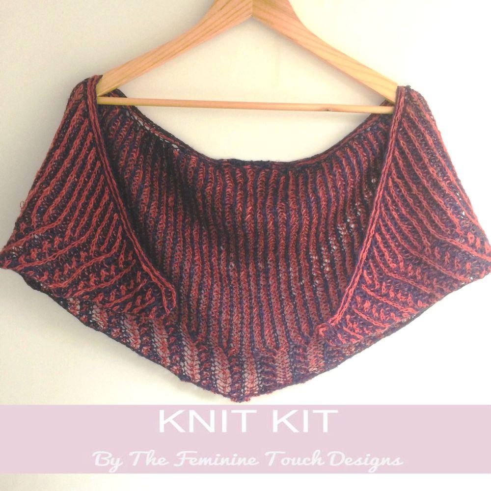 Bevel Shawlette Knitting Kit