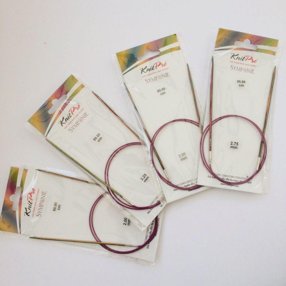 KnitPro Symfonie Fixed Circular Knitting Needles 80 cm