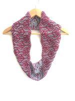 Floral Brioche Cowl 100% Wool
