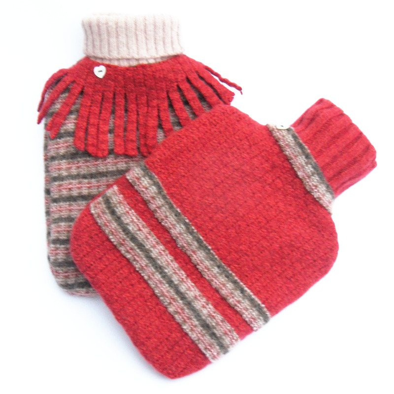 recycled wool hot water bottle covers