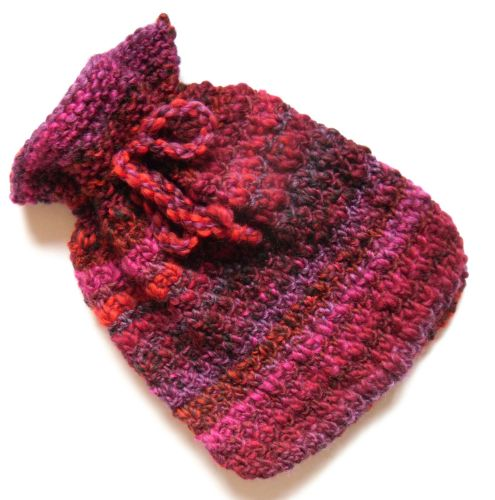 Maroon Wool Hot water bottle cover