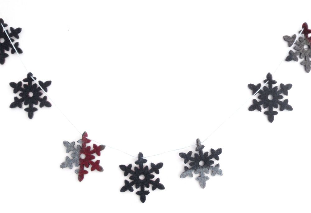 Snowflake garland - blue Christmas decor
