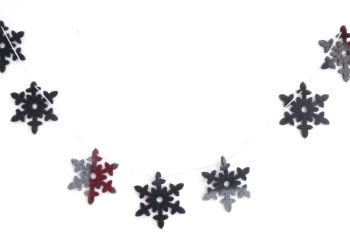 Snowflake garland - blue Christmas decor