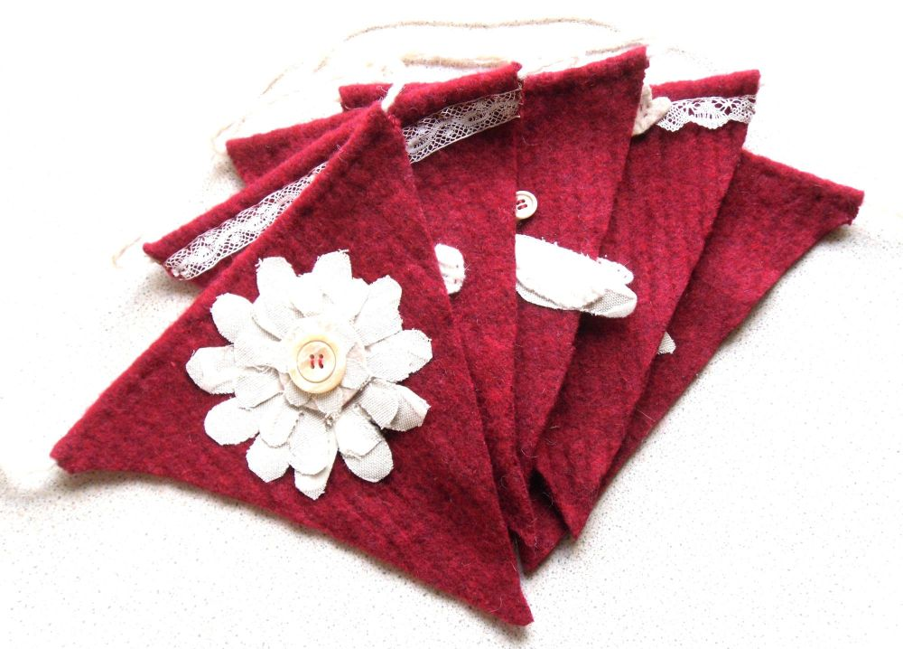Recycled Red Wool Bunting