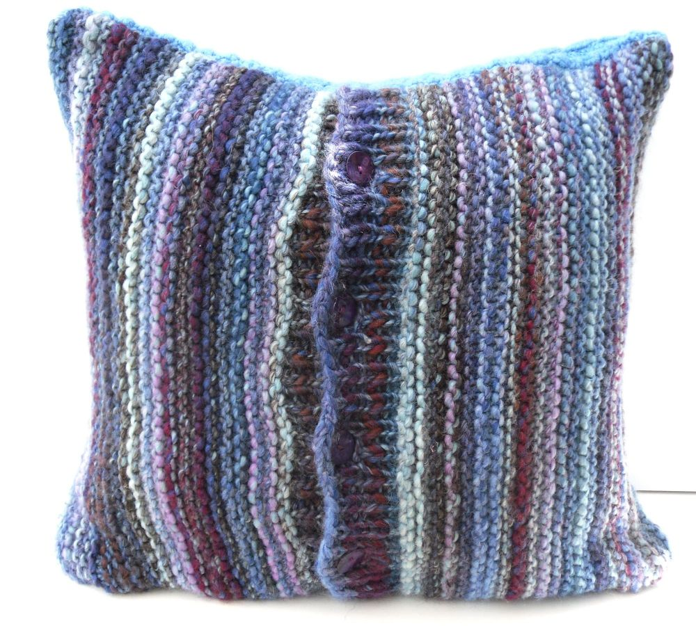 Blue Striped chunky cushion cover (18
