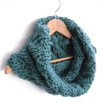 "Large Blue Chevron Snood 18"" wide"