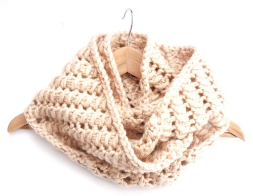 Cream chunky lace Infinity Scarf
