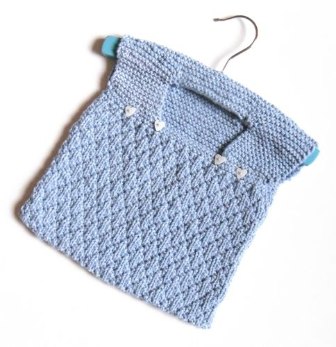 Baby blue Cotton Peg Bag