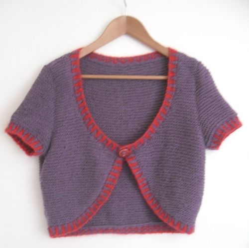 Purple Summer Cotton Cardigan