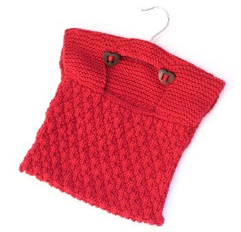 Knitting Pattern for Cotton Peg Bag