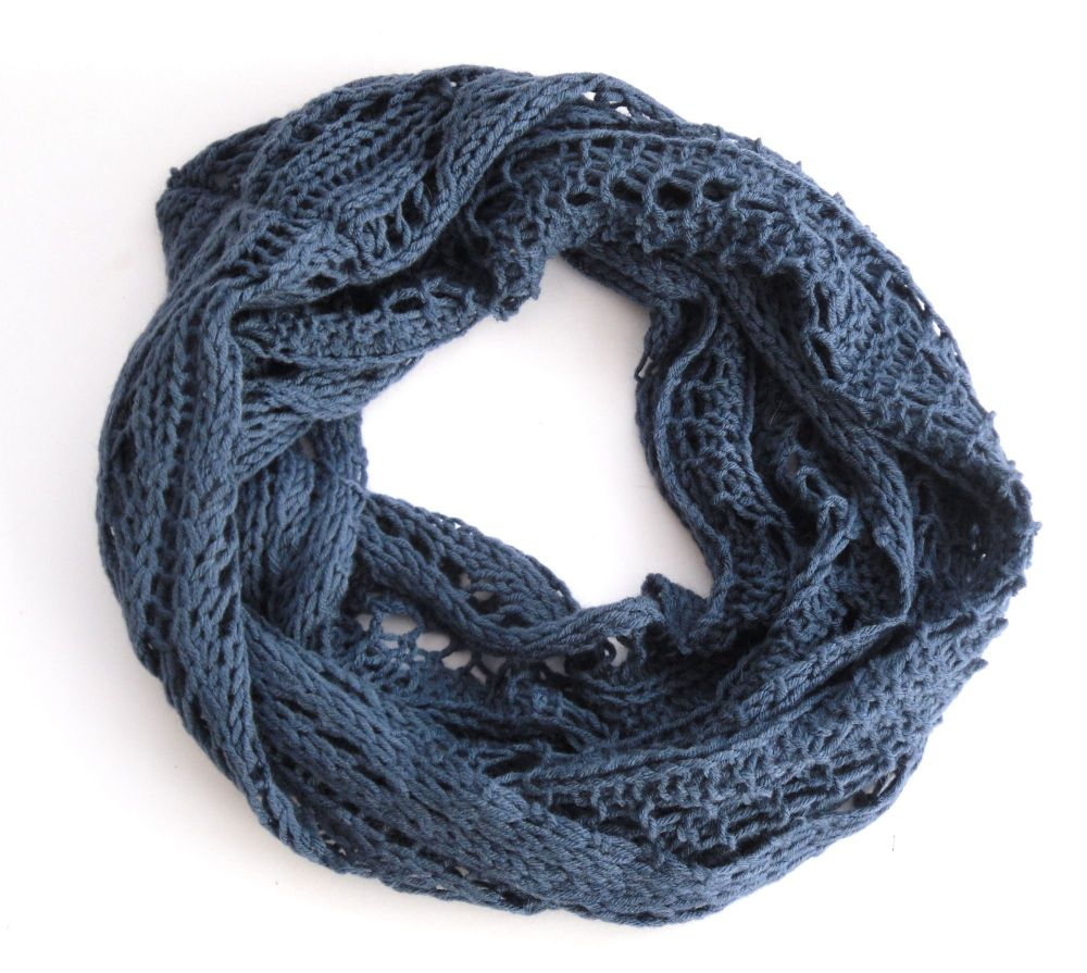 Lace Infinity Scarf knitting Pattern