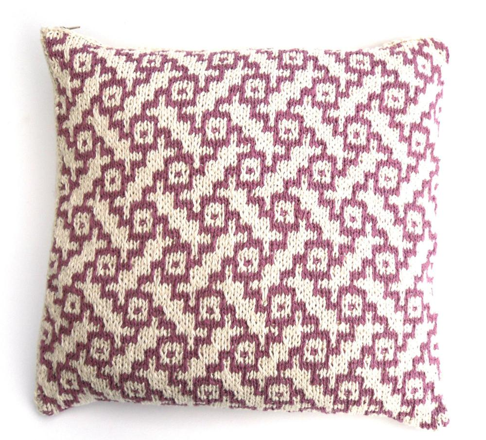 Basket weave patterned cushion cover (18