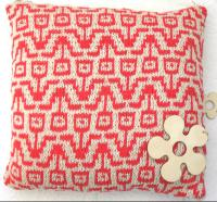 Flower Power summer cotton pillow