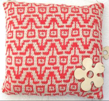 Flower Power summer cotton pillow
