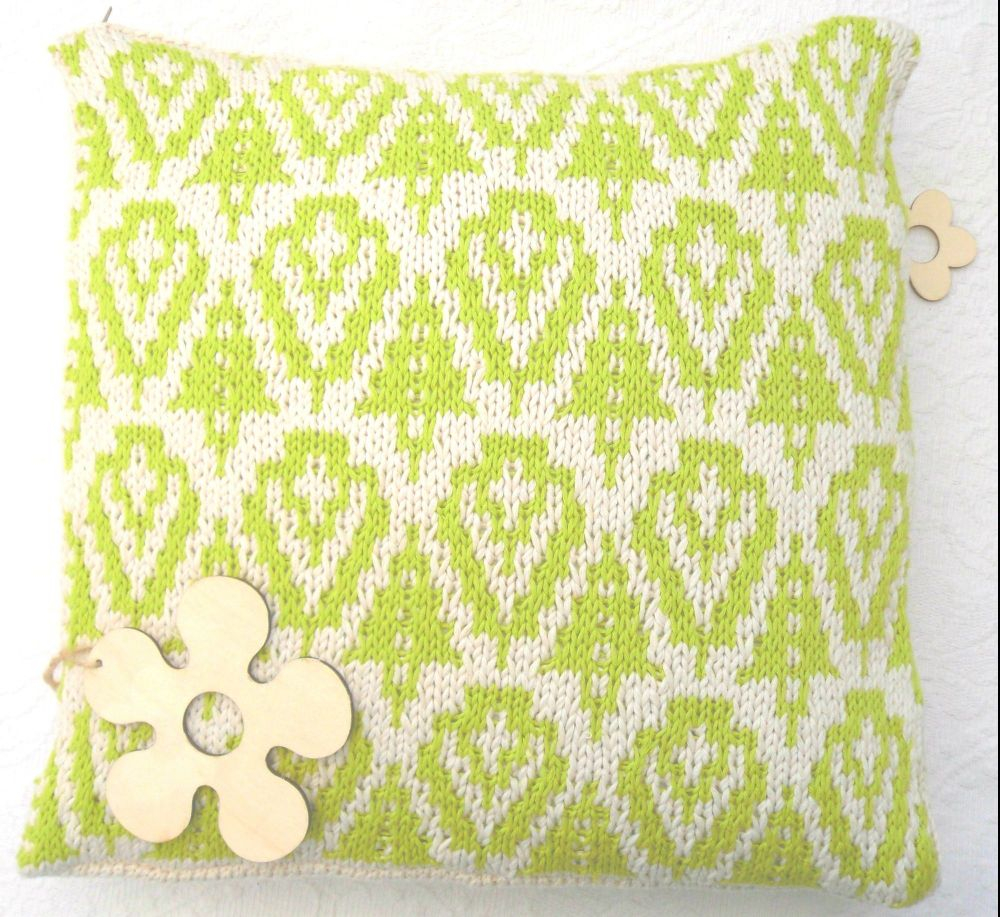Leafy Green spring cotton pillow cover
