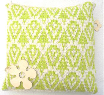 Leafy Green spring cotton pillow cover mosaic