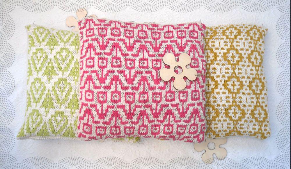 PDF Cushion cover / pillow Knitting Pattern