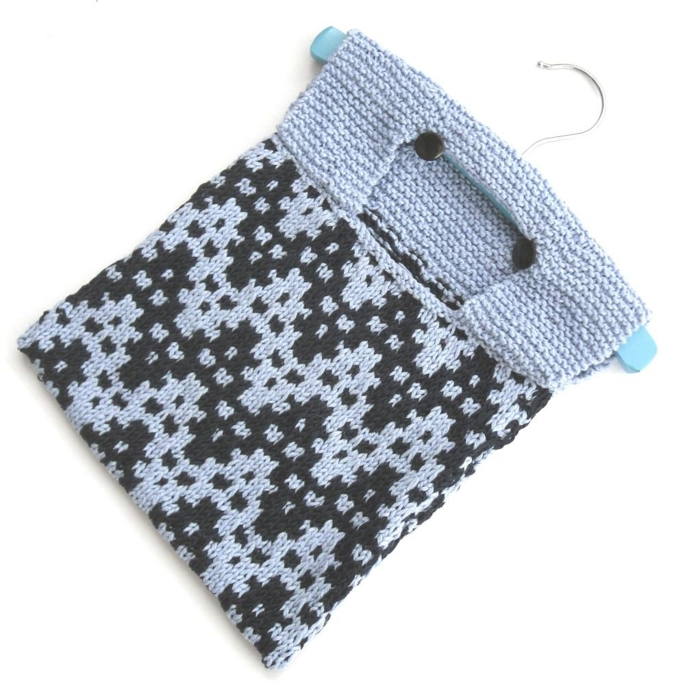 Blue Chevron Peg Bag