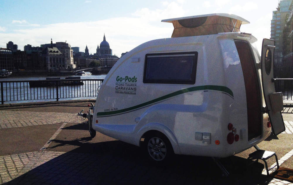 2015 - Go-Pods. Best 2 berth caravans.GP - Go-Pods with St.Pauls Cathedral