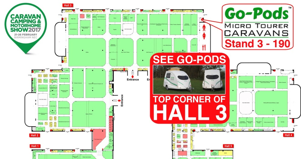 SEE GO-PODS AT THE NEC