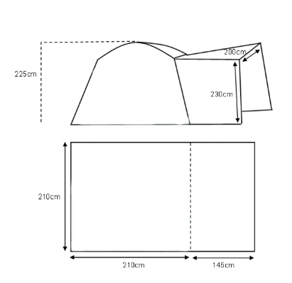 AWNING PLAN. GO-PODS.CO.UK